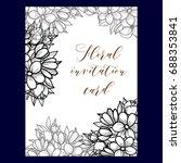 vintage delicate invitation... | Shutterstock .eps vector #688353841