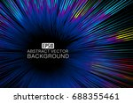 colourful curve composition...   Shutterstock .eps vector #688355461