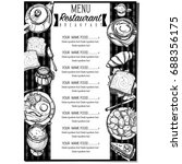menu breakfast food restaurant...   Shutterstock .eps vector #688356175
