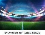 empty night grand stadium with... | Shutterstock . vector #688358521