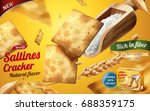 saltines cracker ads  tasty... | Shutterstock .eps vector #688359175