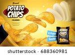 potato chip ads  classic... | Shutterstock .eps vector #688360981