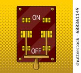 huge electric knife switch off... | Shutterstock .eps vector #688361149