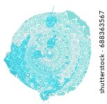 indian mandala with a... | Shutterstock .eps vector #688363567