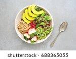 vegetarian salad. | Shutterstock . vector #688365055