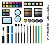 set of make up cosmetics... | Shutterstock . vector #688365289