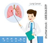 doctor describes about cause to ... | Shutterstock .eps vector #688366309