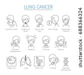 lung cancer outline icons set...   Shutterstock .eps vector #688366324