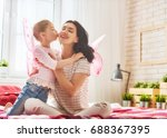 happy loving family. mother and ... | Shutterstock . vector #688367395