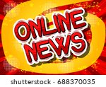 online news   comic book style... | Shutterstock .eps vector #688370035