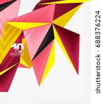 3d modern triangle low poly... | Shutterstock .eps vector #688376224