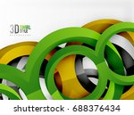 vector 3d rings and swirls...