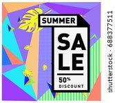 summer sale memphis style web...   Shutterstock .eps vector #688377511