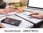 business meeting  in outdoor.... | Shutterstock . vector #688378021