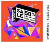 summer sale memphis style web... | Shutterstock .eps vector #688382461