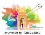 india independence day | Shutterstock .eps vector #688383067