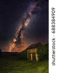 milky way galaxy and star over... | Shutterstock . vector #688384909