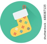 stocking vector icon  | Shutterstock .eps vector #688387135