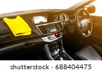 yellow microfiber and console... | Shutterstock . vector #688404475
