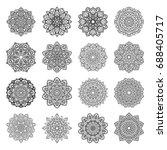 set of mandalas. ethnic...   Shutterstock .eps vector #688405717