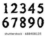 set of grunge numbers.vector...   Shutterstock .eps vector #688408135