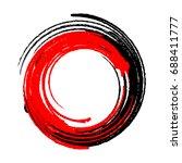 brush stroke and texture ...   Shutterstock .eps vector #688411777