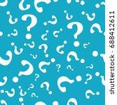 question mark seamless pattern .... | Shutterstock .eps vector #688412611