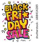 black friday comic speech... | Shutterstock .eps vector #688414285
