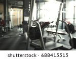 abstract blurred fitness gym... | Shutterstock . vector #688415515