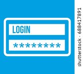 login and password icon white... | Shutterstock .eps vector #688417891