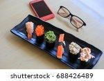 sushi rice mold wasabi japanese ... | Shutterstock . vector #688426489