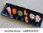 sushi rice mold wasabi japanese ... | Shutterstock . vector #688426501