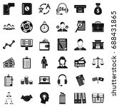 business people icons set.... | Shutterstock .eps vector #688431865