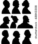 vector. silhouette | Shutterstock . vector #68843308