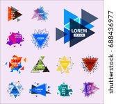 sacred geometry triangle... | Shutterstock .eps vector #688436977