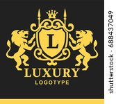 luxury boutique royal crest... | Shutterstock .eps vector #688437049