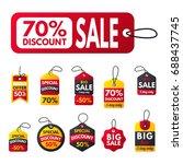 super sale extra bonus red... | Shutterstock .eps vector #688437745