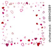 hearts border wedding... | Shutterstock .eps vector #688443889