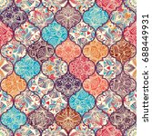seamless colorful patchwork in... | Shutterstock .eps vector #688449931