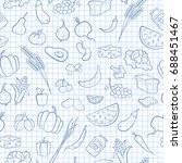 seamless pattern on the theme... | Shutterstock .eps vector #688451467
