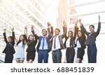 happiness group of business... | Shutterstock . vector #688451839