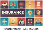 types of insurance   modern... | Shutterstock .eps vector #688452085