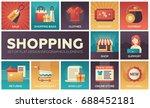 shopping process   modern... | Shutterstock .eps vector #688452181