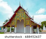 temple in thailand on the sky...   Shutterstock . vector #688452637