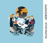 business people meeting for... | Shutterstock .eps vector #688454095