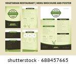 restaurant menu brochure...   Shutterstock .eps vector #688457665