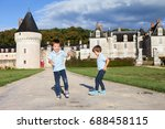 Two Boys  Happily Playing Afte...