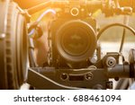 detail of video camera   film... | Shutterstock . vector #688461094