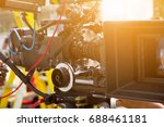 detail of video camera   film...   Shutterstock . vector #688461181