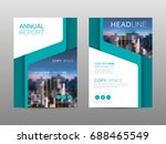 annual report brochure layout... | Shutterstock .eps vector #688465549